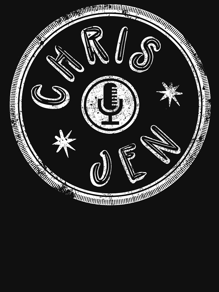 Chris and Jen Circle Stamp - Faded (White) by chrisandjenshow
