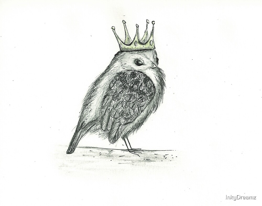 Crowned Bird by InkyDreamz