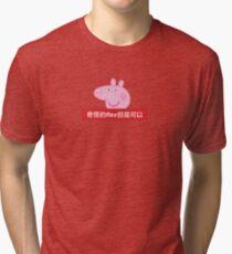 Weird Flex but OK in Chinese - 奇怪的 flex 但是可以 - Peppa Pig x Supreme Tri-blend T-Shirt