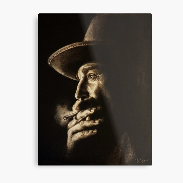 Daniel plainview charcoal Metal Print