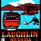 «Calcomanía de viaje vintage de Laughlin Nevada» de hilda74