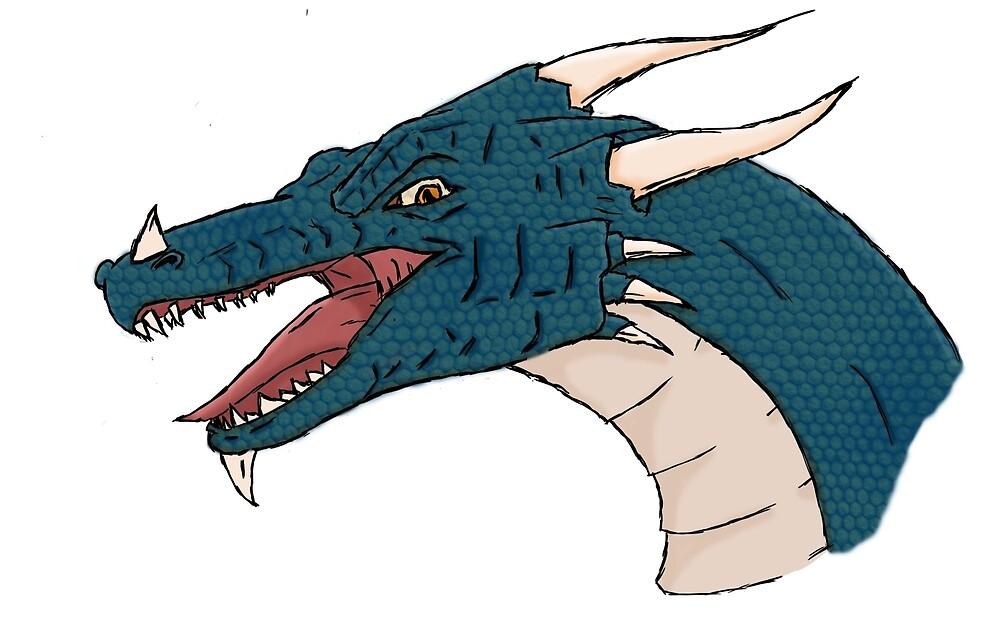 Blue dragon by ThomasParsons