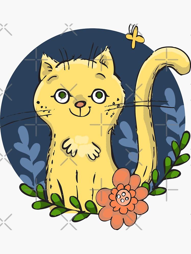 Happy Kitty in the Garden by vwadeart