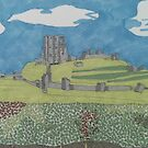 Corfe Castle, Purbeck, Dorset von AndyKnillArt