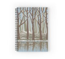 Four Seasons Forest_Winter Spiral Notebook