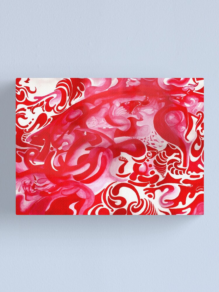 Alternate view of Untitled Red Painting Canvas Print
