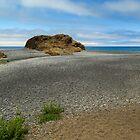 Black Sand Beach On The Lost Coast by James Eddy