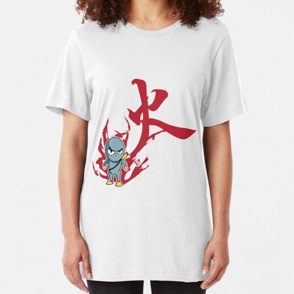Hwa . control thyself . Ninja Confront Slim Fit T-Shirt
