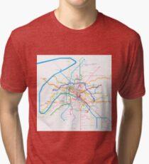 Paris Metro Tri-blend T-Shirt