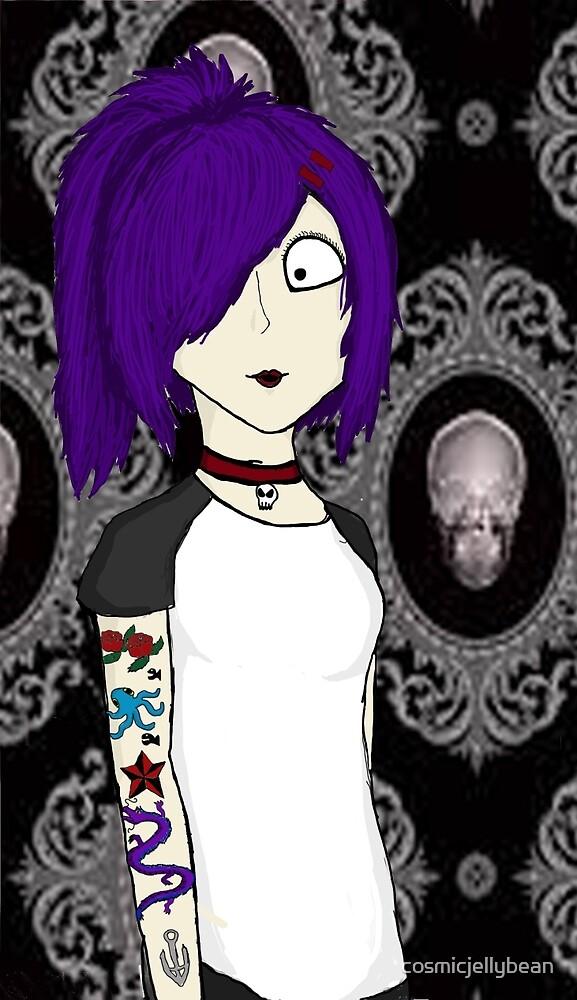 Punk girl by cosmicjellybean