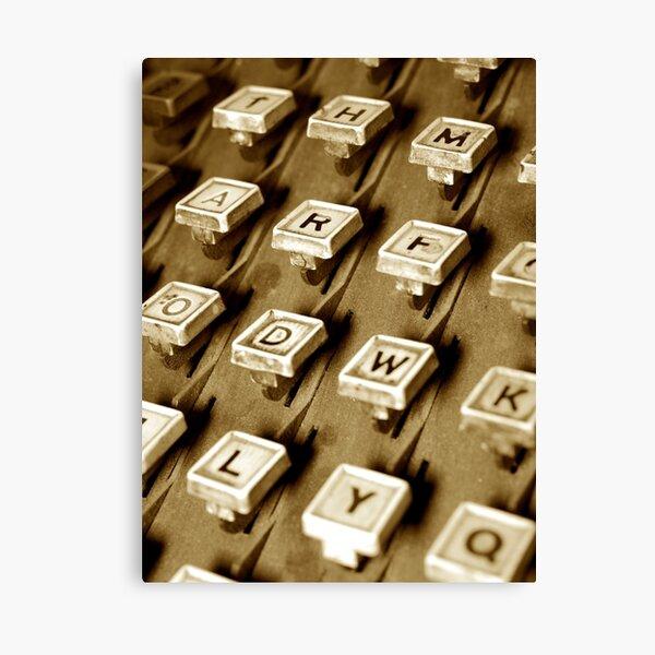 Druckmaschine / Linotype-Maschine Leinwanddruck