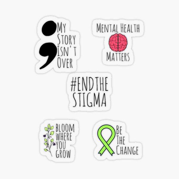 Mental Health Awareness Sticker Pack Transparent Sticker