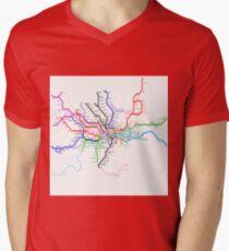 London Metro Mens V-Neck T-Shirt