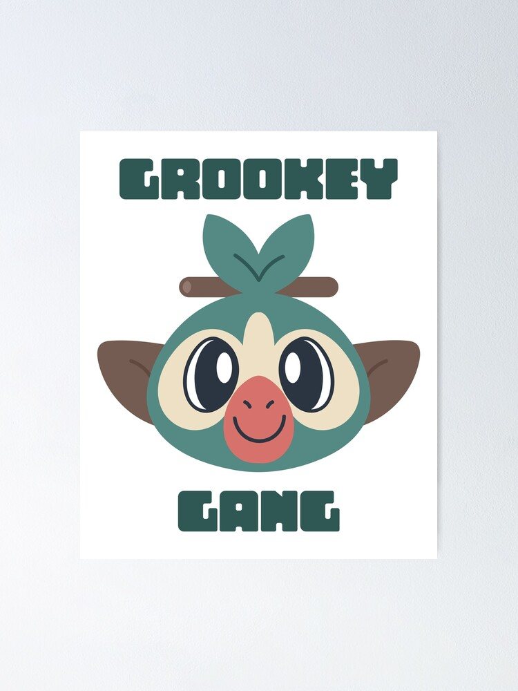 Grookey Gang Team Grookey Generation 8 Sword Shield Grass Starter Poster By Byandreakoehler Redbubble Here's what happened when 15 random people took turns drawing and describing, starting with the prompt grooky gang. redbubble
