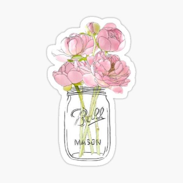 Mason jar bouquet Sticker