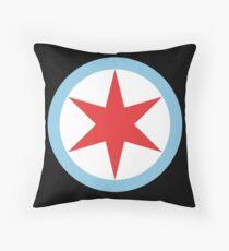 Captain Chicago (Clean) Throw Pillow