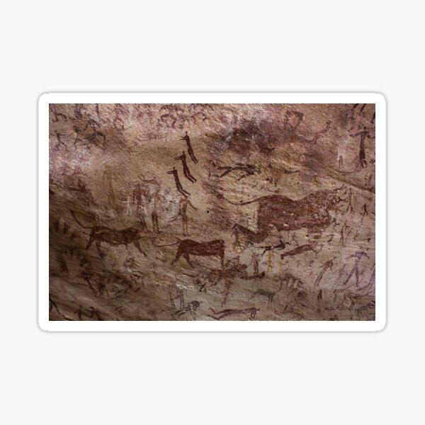 Rock paintings from the Cave of Beasts (Gilf Kebir, Libyan Desert) Estimated 7000 BP Sticker