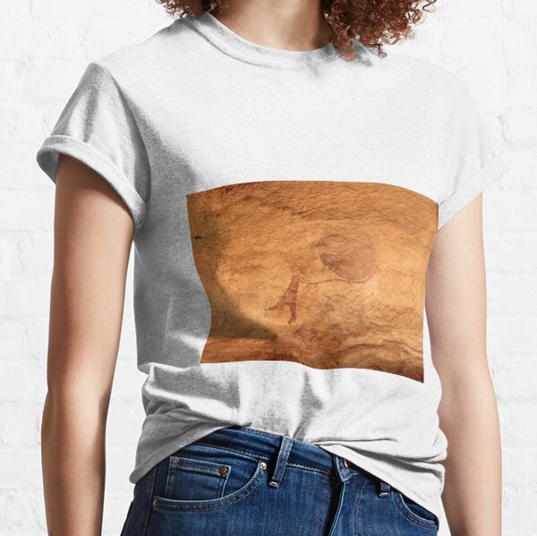 Cave painting at the Tassili n'Ajjer UNESCO World Heritage Site in southeast Algeria Classic T-Shirt
