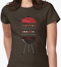 Barbecue Womens Fitted T-Shirt