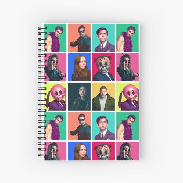 The Umbrella Academy - Collage de personajes Cuaderno de espiral