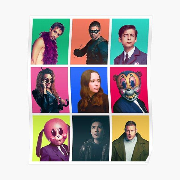 The Umbrella Academy - Collage de personajes Póster
