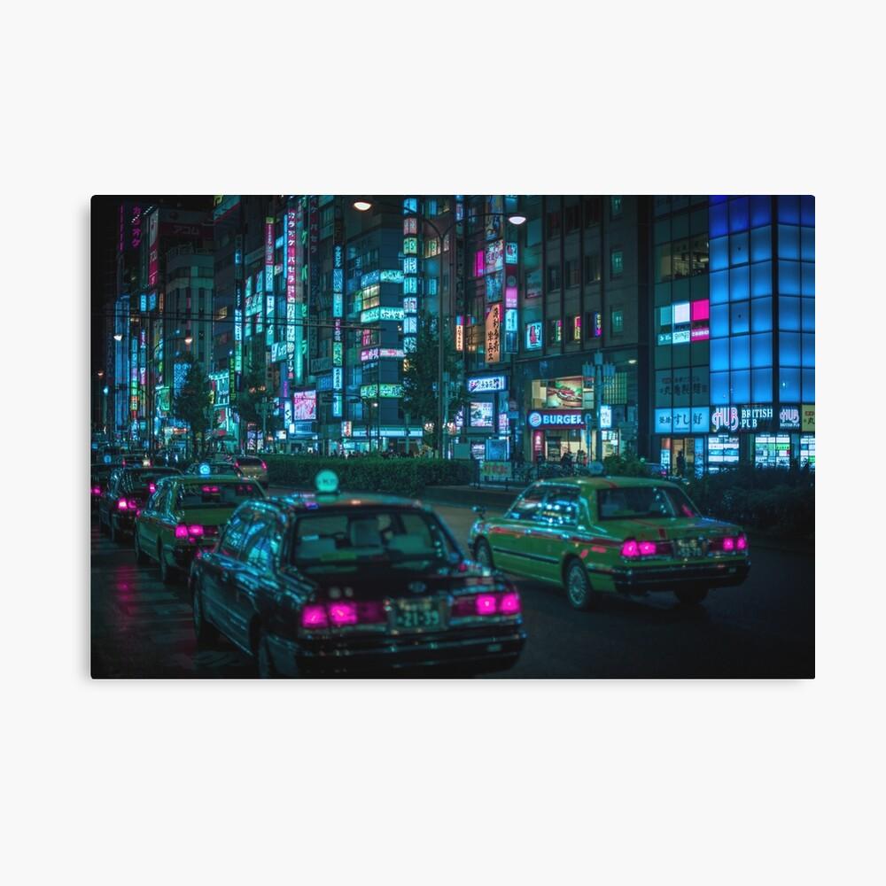 Yasukuni Dori, Shinjuku Canvas Print