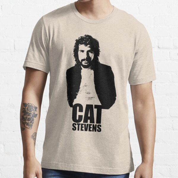Cat Stevens - Black Stencil Essential T-Shirt