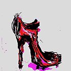 Shoe Pop Art Style in red and pink by Angie Stimson