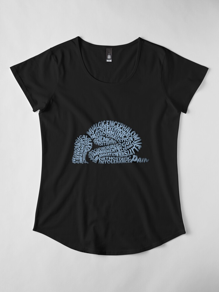 Alternate view of The Misery of ME by Jill Thompson Premium Scoop T-Shirt