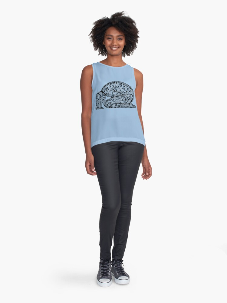 Alternate view of The Misery of ME by Jill Thompson Sleeveless Top
