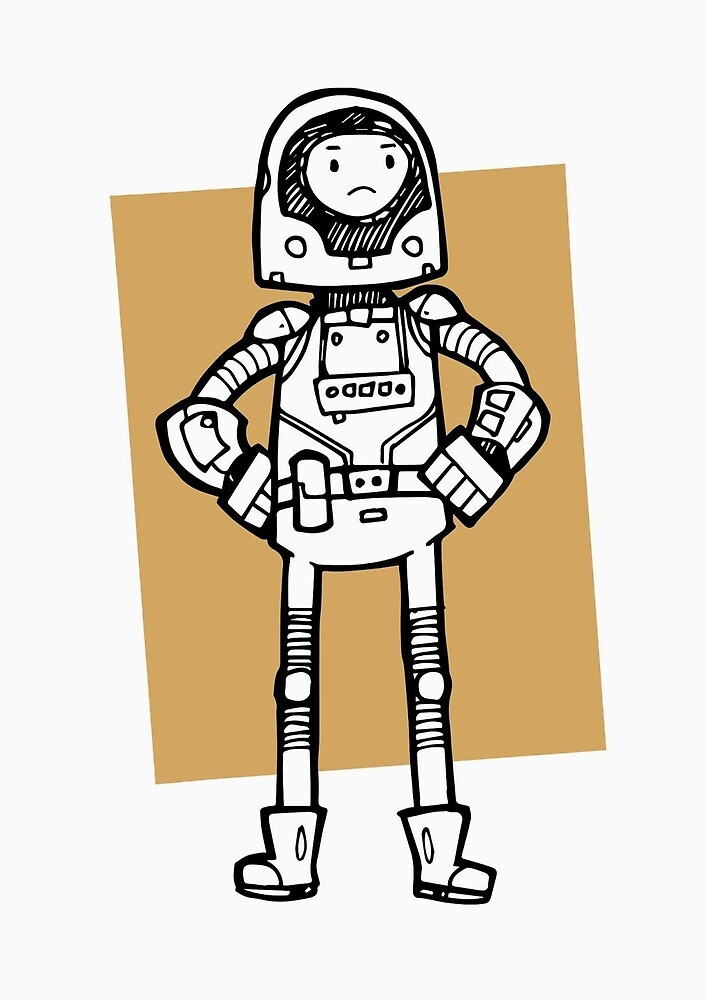 A Lost Spaceman by FatKnack