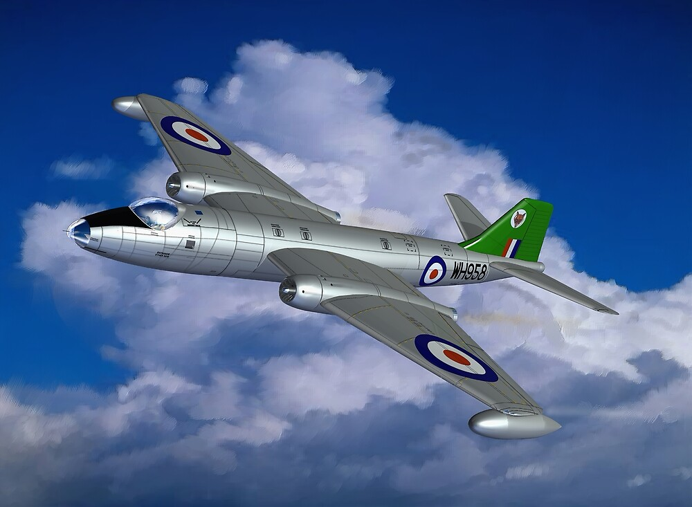 Quot In Her Pomp English Electric Canberra B6 Aircraft