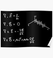 Maxwell-Gleichungen Poster