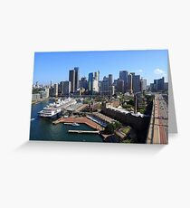 Cruiser Ship in Sydney Greeting Card