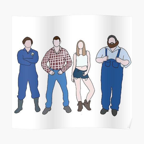 Wayne, Katy, Daryl, and Dan - Letterkenny Poster