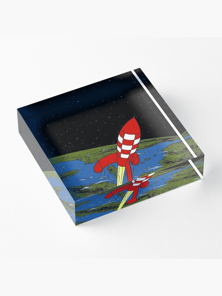 Alternate view of Tintin rocket Phone case Acrylic Block