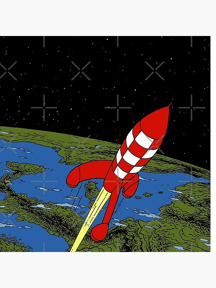 Tintin rocket Phone case by stevenxbatista