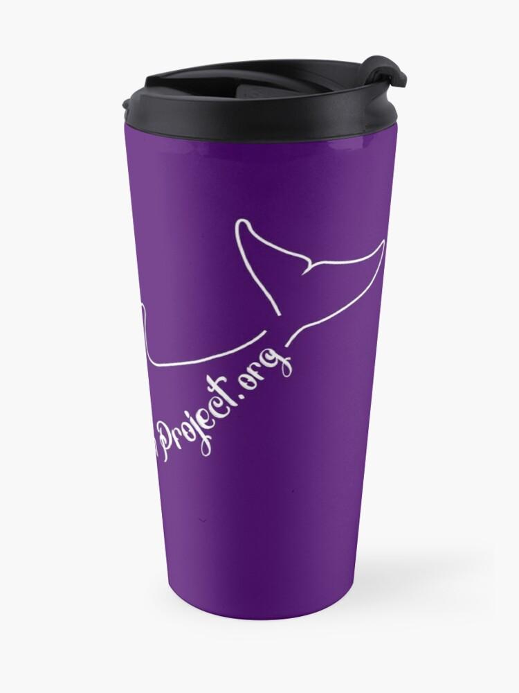 Alternate view of Purple Dolphin Stuff Travel Mug