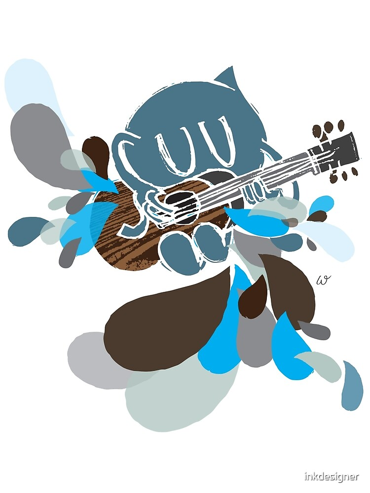 Blue Guitar by inkdesigner