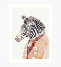Zebra-Creme Kunstdruck