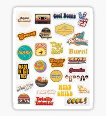 Retro Aufkleber - groovige Aufkleber, Hippie-Aufkleber Sticker