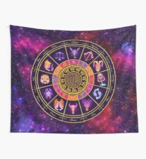 Scorpio Zodiac Lightburst - Circle Wall Tapestry