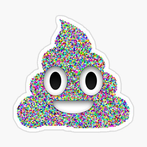 Emoji de merde, tas de triangles d'émoticônes de Caca arc-en-ciel Sticker
