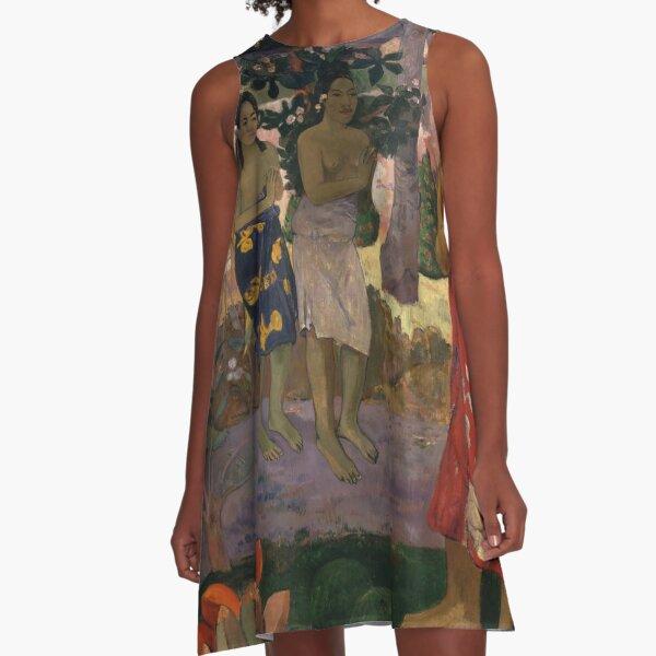 Paul Gauguin - Ia Orana Maria (Hail Mary) A-Line Dress