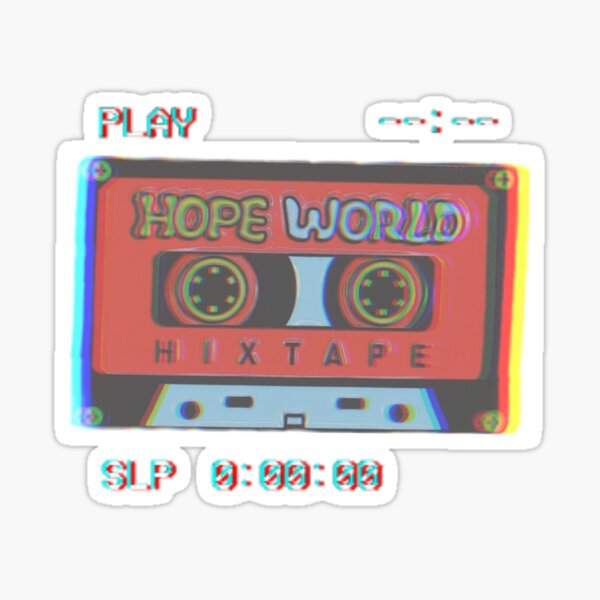 Hopeworld Hixtape Pegatina