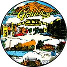 «Calcomanía de viaje dorada de Colorado» de hilda74