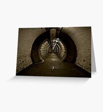 Greenwich Tunnel Greeting Card