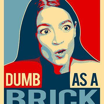 Alexandria Ocasio Cortez AOC Dumb As A Brick by bigtimmystyle