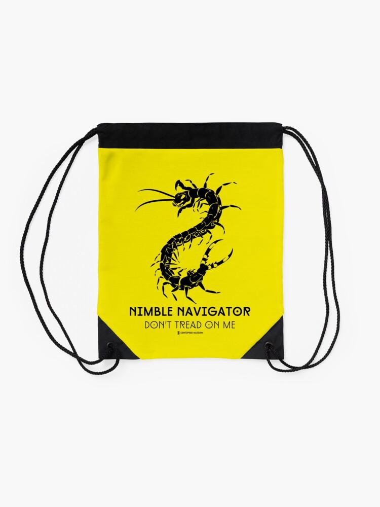 Alternate view of The ORIGINAL Nimble Navigator - Don't Tread On Me by Centipede Nation Drawstring Bag
