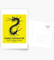 The ORIGINAL Nimble Navigator - Don't Tread On Me by Centipede Nation Postcards